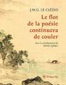 Couverture Le flot de la poésie continuera de couler  Editions Philippe Rey 2020