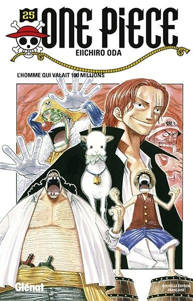 Couverture One Piece, tome 025 : L'homme qui valait cent millions / L'homme qui valait 100 millions