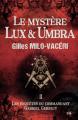 Couverture Le mystère Lux et Umbra Editions du 38 2017