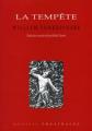 Couverture La tempête Editions Théâtrales 2007