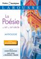 Couverture La poésie du XIXe au XXIe siècle Editions Larousse (Petits classiques) 2019