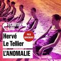 Couverture L'Anomalie Editions Audible studios 2020