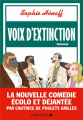 Couverture Voix d'extinction Editions Albin Michel 2021