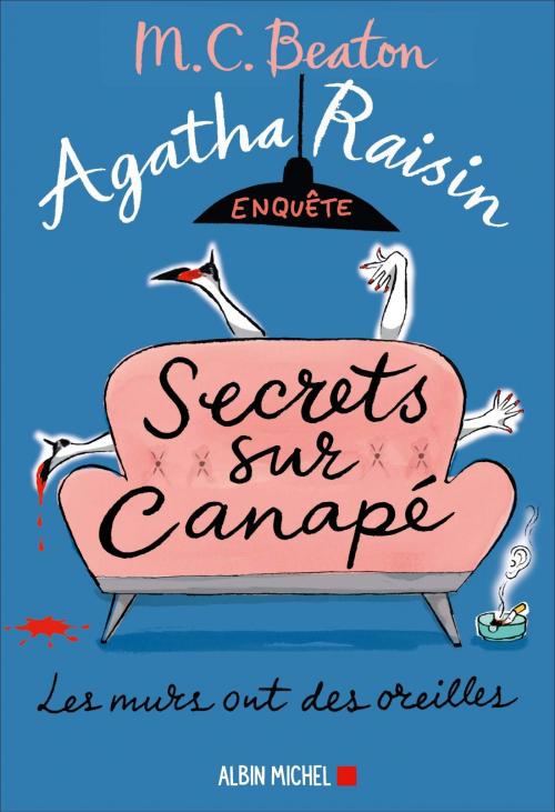 Couverture Agatha Raisin enquête, tome 26 : Secrets sur canapé