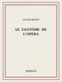 Couverture Le fantôme de l'opéra Editions Bibebook 2015