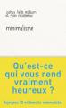 Couverture Minimalisme Editions J'ai Lu (Bien-être) 2021