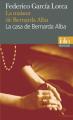 Couverture La maison de Bernarda Alba Editions Folio  (Bilingue) 2015