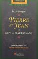 Couverture Pierre et  Jean Editions Beauchemin 2001