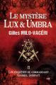 Couverture Le mystère Lux et Umbra Editions du 38 2019