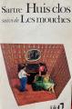 Couverture Huis clos suivi de Les mouches Editions Folio  1972