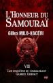 Couverture L'honneur du Samouraï  Editions du 38 (38 rue du polar) 2019