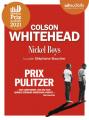 Couverture Nickel Boys Editions Audiolib 2020