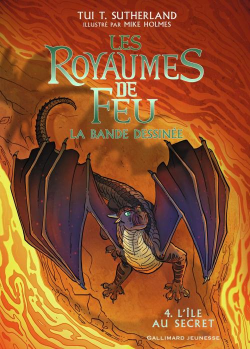 Couverture Les Royaumes de Feu (BD), tome 4 : L'île au secret