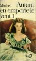 Couverture Autant en emporte le vent (3 tomes), tome 1 Editions Belin / Gallimard 1938