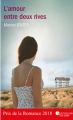 Couverture L'amour entre deux rives Editions Nouvelles plumes 2018