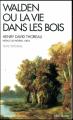 Couverture Walden ou la Vie dans les bois Editions Albin Michel (Spiritualités vivantes) 2017