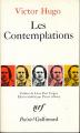 Couverture Les contemplations Editions Gallimard  (Poésie) 1973