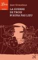 Couverture La guerre de Troie n'aura pas lieu Editions Librio (Théâtre) 2015
