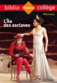Couverture L'île des esclaves Editions Hachette (Biblio collège) 2018