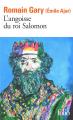Couverture L'angoisse du roi Salomon Editions Folio  2015