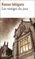 Couverture Les Vestiges du jour Editions Folio  2010