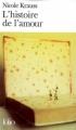 Couverture L'histoire de l'amour Editions Folio  2008