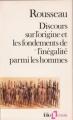 Couverture Discours sur l'origine et les fondements de l'inégalité parmi les hommes Editions Folio  (Essais) 1985