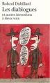Couverture Les diablogues et  autres inventions à deux voix Editions Folio  1998