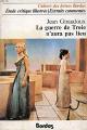 Couverture La guerre de Troie n'aura pas lieu Editions Bordas (Univers des lettres) 1978