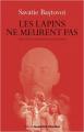 Couverture Les lapins ne meurent pas Editions Jacqueline Chambon 2012
