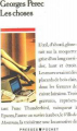 Couverture Les choses Editions Presses pocket 1990