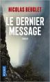 Couverture Le dernier message Editions Pocket (Thriller) 2021