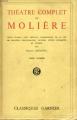 Couverture Théâtre complet, tome 1 Editions Garnier (Classiques) 1950
