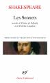 Couverture Sonnets Editions Gallimard  (Poésie) 2007