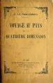 Couverture Voyage au pays de la quatrième dimension Editions Charpentier 1912