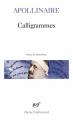 Couverture Calligrammes Editions Gallimard  (Poésie) 2019