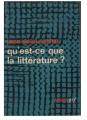 Couverture Qu'est-ce que la littérature ? Editions Gallimard  (Idées) 1970