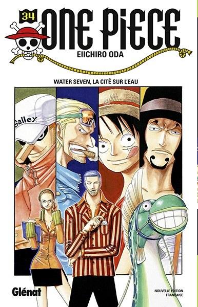 Couverture One Piece, tome 034 : Water Seven, la cité sur l'eau