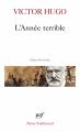 Couverture L'Année Terrible Editions Gallimard  (Poésie) 1985