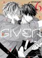 Couverture Given, tome 6 Editions Taifu comics (Yaoï) 2021