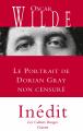 Couverture Le portrait de Dorian Gray Editions Grasset (Les Cahiers Rouges) 2016