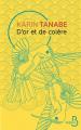 Couverture D'or et de colère Editions Belfond 2021