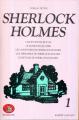 Couverture Sherlock Holmes : Une étude en rouge, Le signe des quatre, Les aventure de Sherlock Holmes, Les mémoires de Sherlock Holmes, Le retour de Sherlock Holmes Editions Robert Laffont (Bouquins) 1979