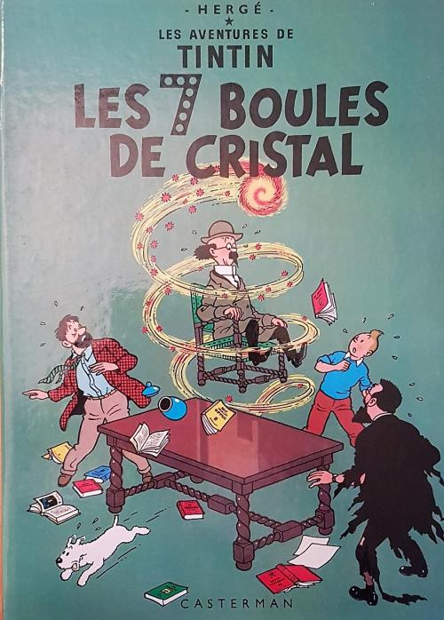 Couverture Les aventures de Tintin, tome 13 : Les Sept Boules de cristal