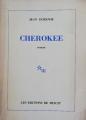 Couverture Cherokee Editions de Minuit 1983