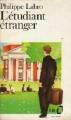 Couverture L'étudiant étranger Editions Folio  1988