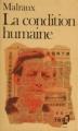 Couverture La condition humaine Editions Folio  1981