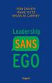 Couverture Leadership sans ego Editions Fayard 2019