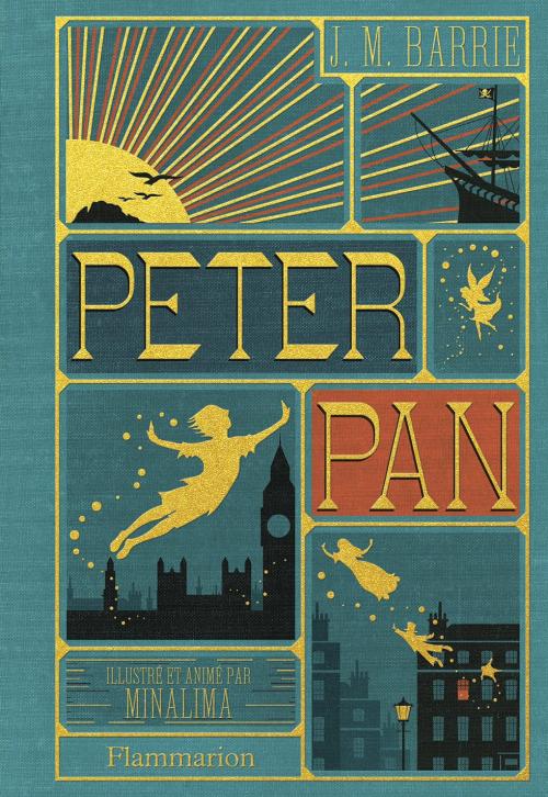 Couverture Peter Pan, illustré (MinaLima)