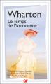 Couverture Le temps de l'innocence / L'âge de l'innocence Editions Flammarion (GF) 2021